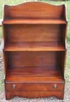 SOLD - Small Mahogany Open Bookcase by Reprodux